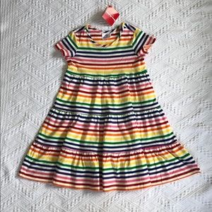 Hanna Andersson rainbow twirl dress size 110 5